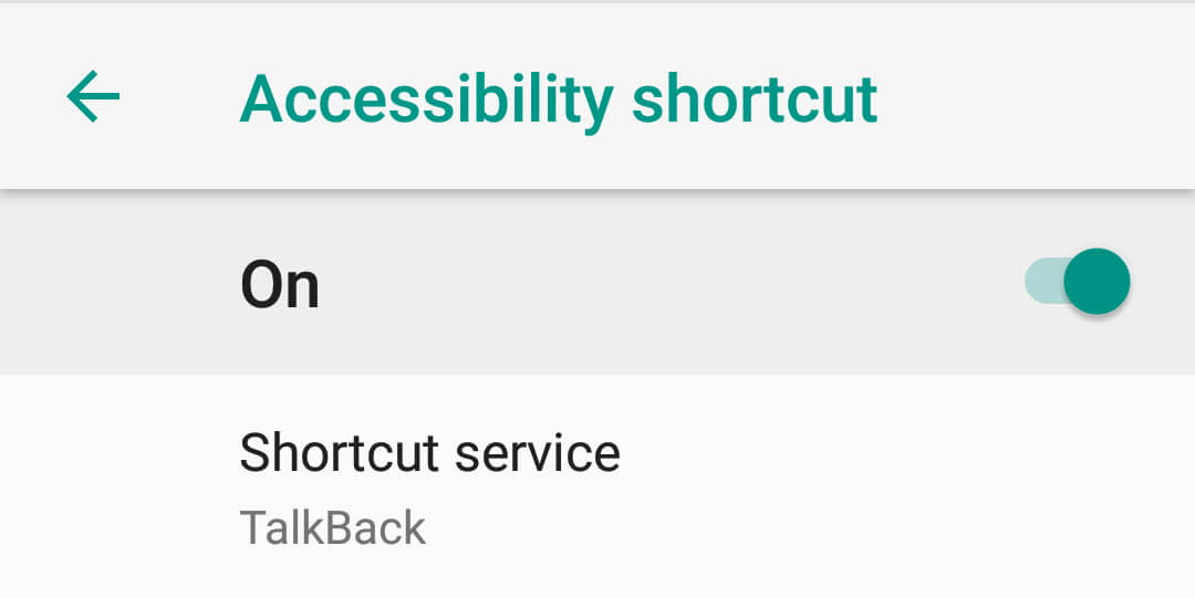 Android Accessibility Settings